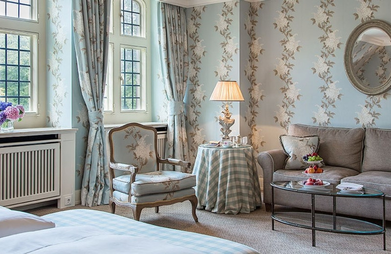 Guest room at Schlosshotel Kronberg.