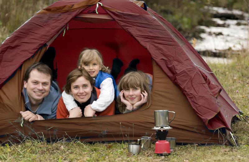 Camping at Old Forge Camping Resort.
