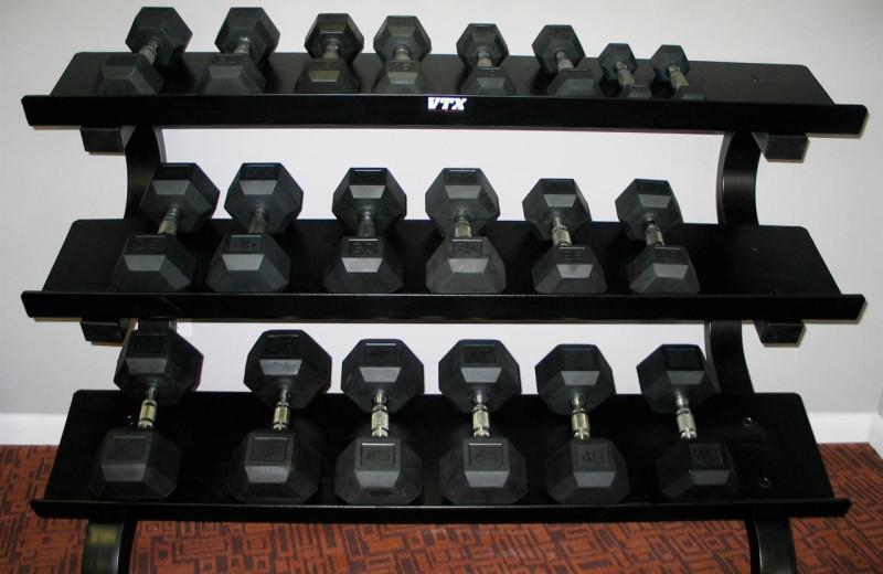 Barbells at Shalimar Resort and Conference Center.