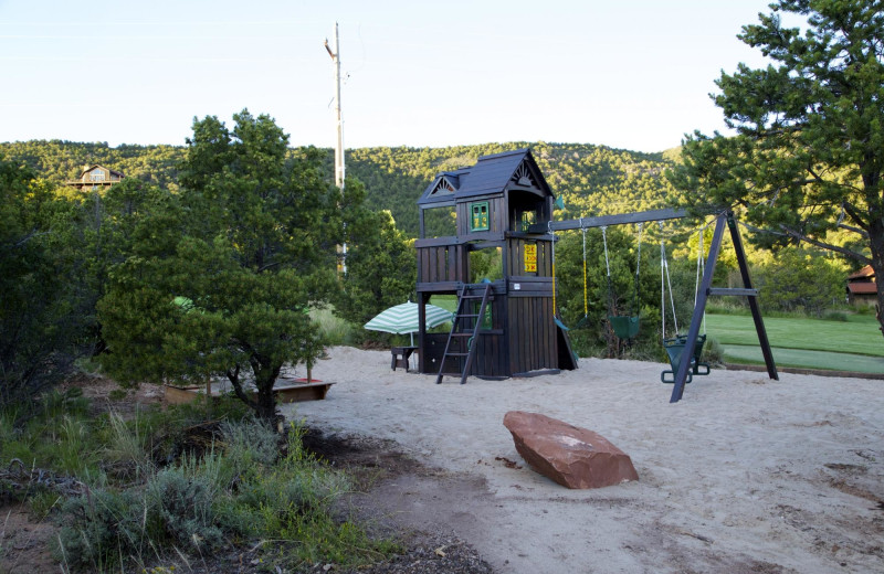 Playground at Whispering Oaks Ranch.