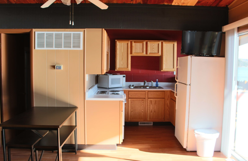 Guest kitchen at Hawks Landing Resort.