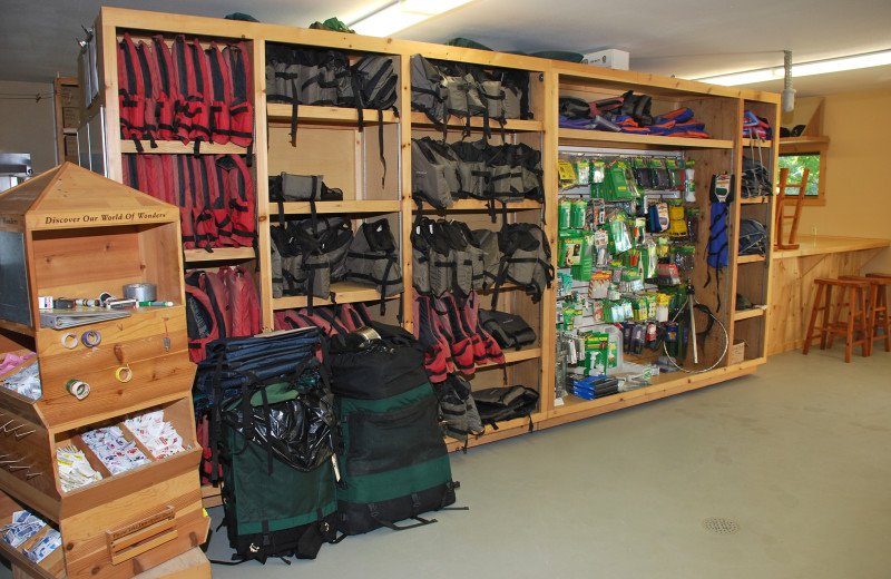Equipment rental at River Point Resort & Outfitting Co.