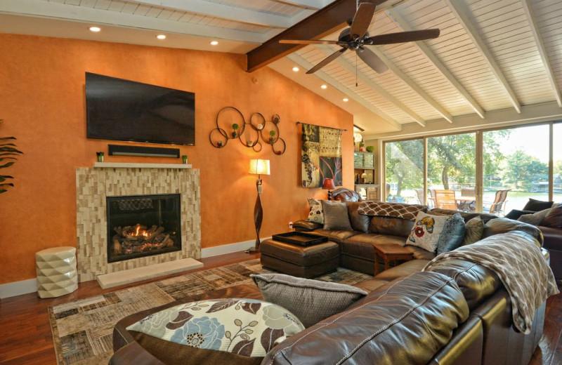 Rental living room at Villa Manana.