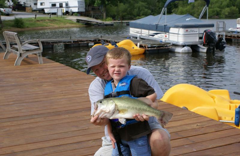 Fishing at Malcolm Creek Resort & Marina.