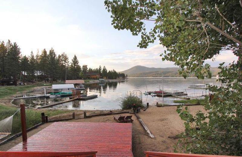 Lake view at Big Bear Cool Cabins.