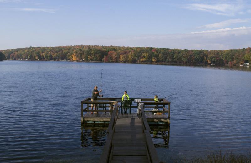 Fishing at Woodloch Resort.