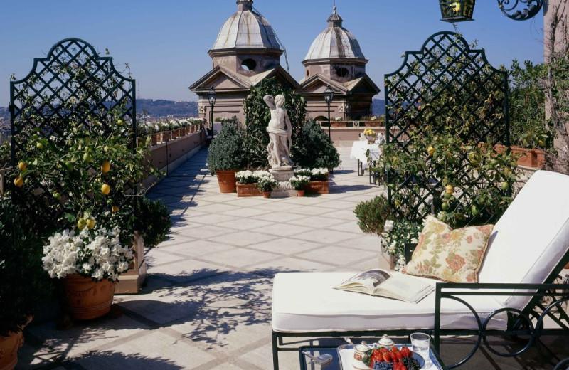 Patio at Hotel Hassler Villa Medici.