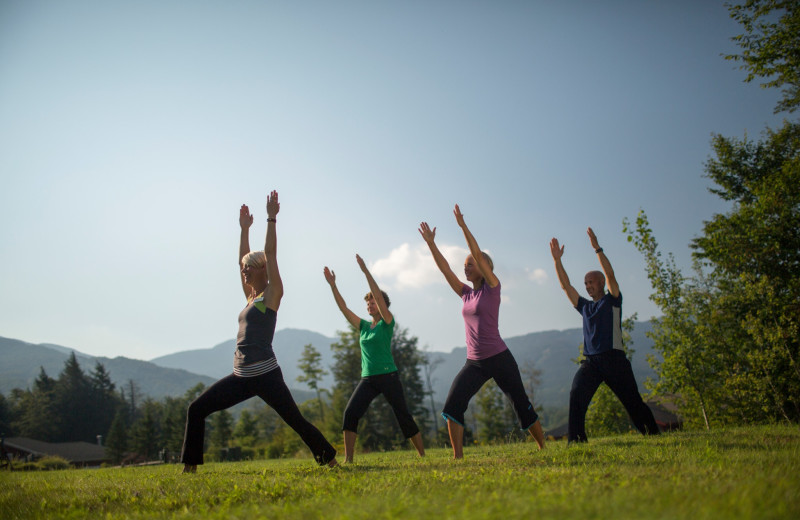Yoga at Smugglers' Notch Resort.
