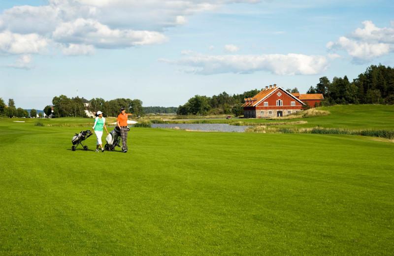 Golf course at Mauritzbergs Slott.