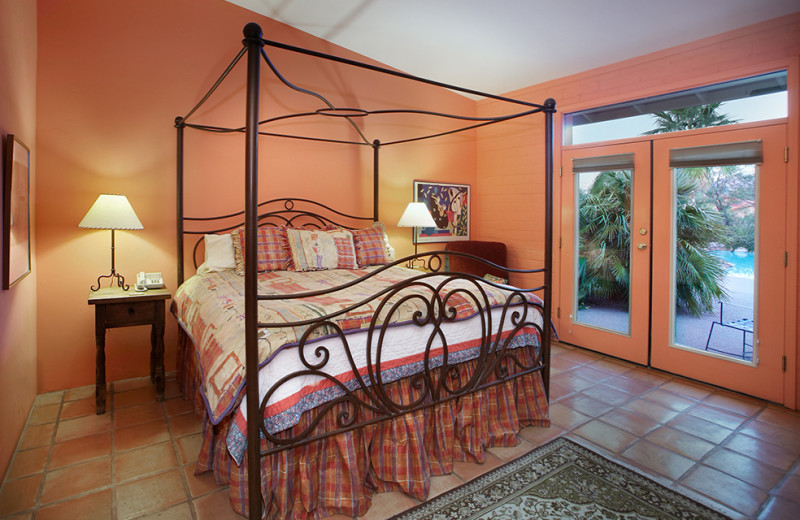 Guest room at Cactus Cove Bed & Breakfast.