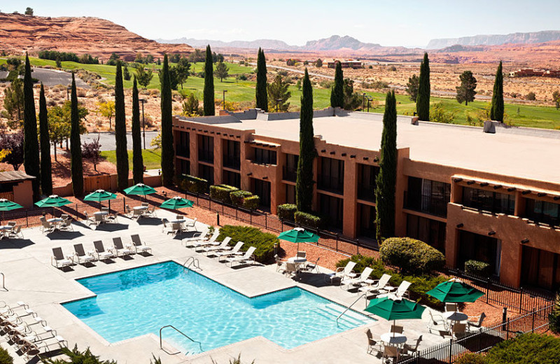 Outdoor pool at Courtyard Page.