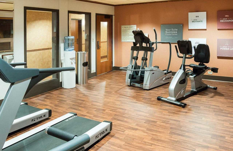 Fitness room at Comfort Suites Canal Park.
