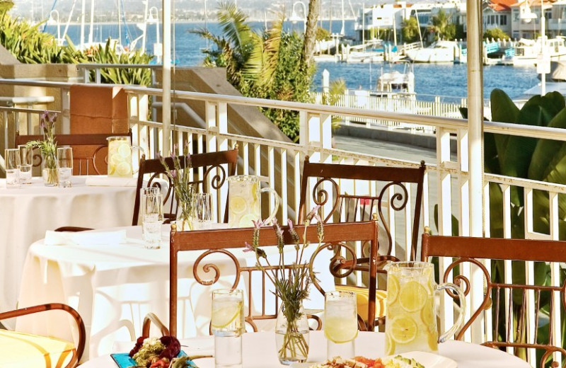 Outdoor dining at Loews Coronado Bay Resort.