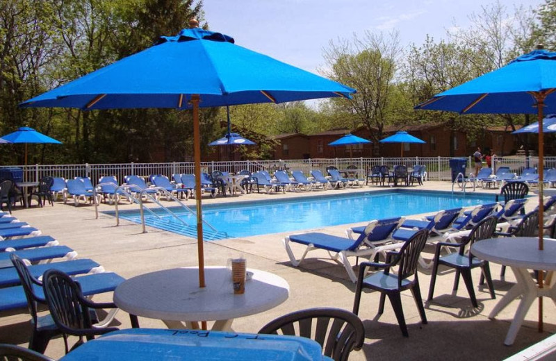 Outdoor pool at Island Club Rentals.