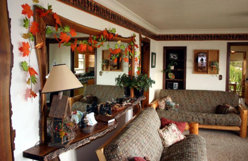 Living room at The Inn on Gitche Gumee.
