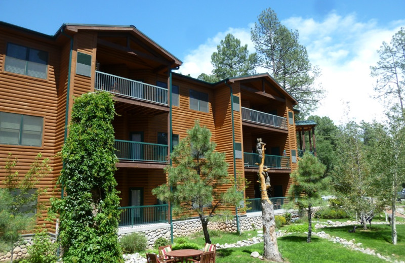 Exterior view of Ruidoso River Resort and Inn.