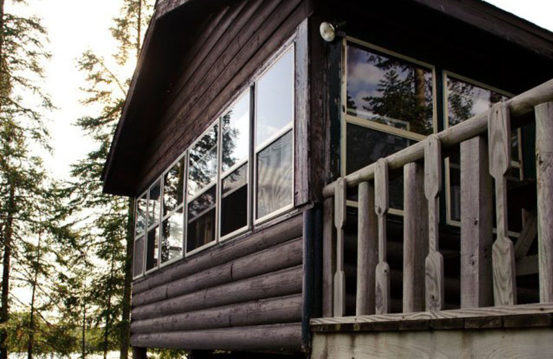 Cabin exterior at Hungry Jack Lodge.