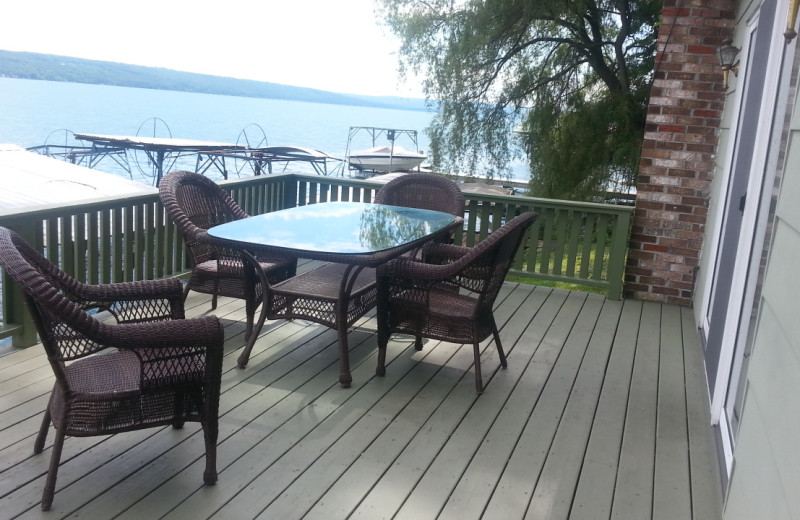 Cottage deck at Kingtown Beach Cottages.