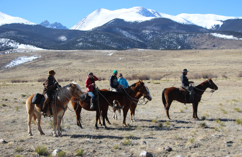 Winter horseback rides in the Colorado mountains