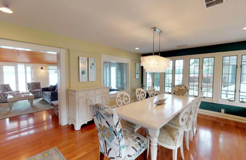 Dining room at BoatHouse Villa.