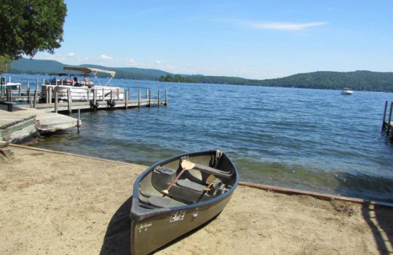 Canoeing at The Depe Dene Resort.