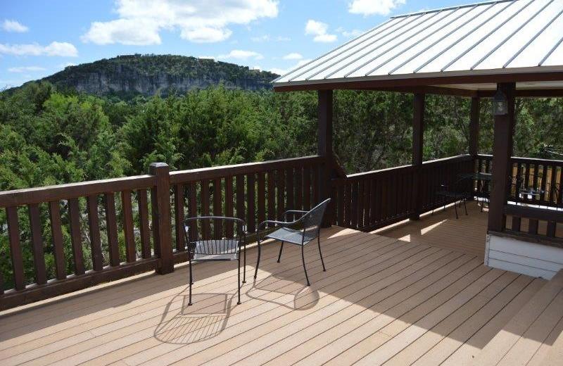 Rental porch at Frio Family Getaway