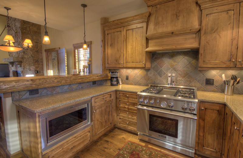 Rental kitchen at Big Sky Luxury Rentals.