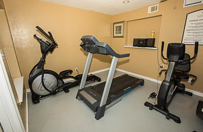 Fitness room at Sterling Sands Condominiums.