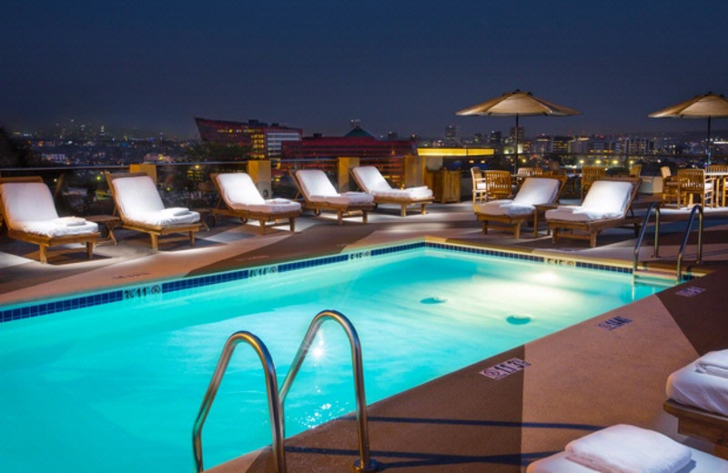 Outdoor pool at Le Montrose Suite Hotel.