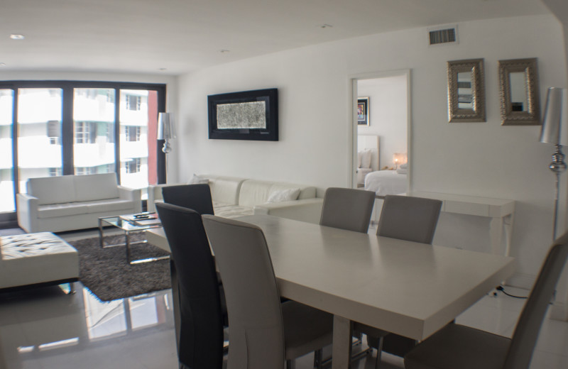 Guest living room at The Alexander All Suite Oceanfront Resort.