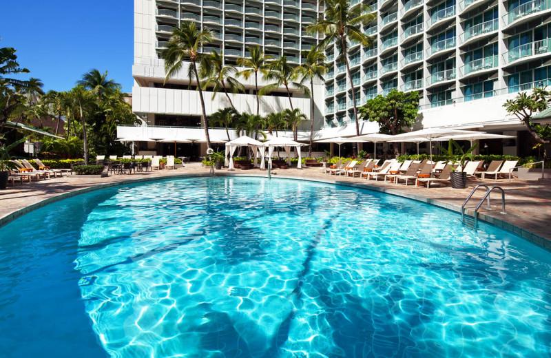 Outdoor pool at Sheraton Princess Kaiulani Hotel.