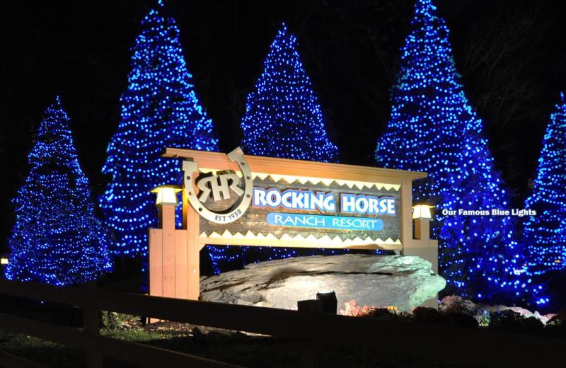 Christmas trees at Rocking Horse Ranch Resort.