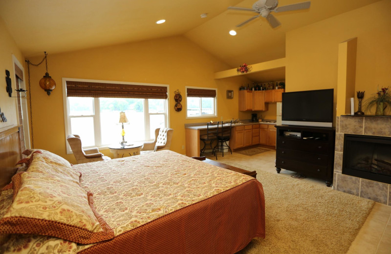 Guest room at Point Randall Resort.