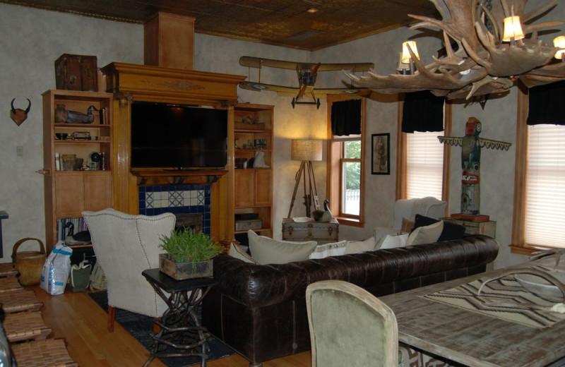 Living room at Wheeler Block Penthouse.