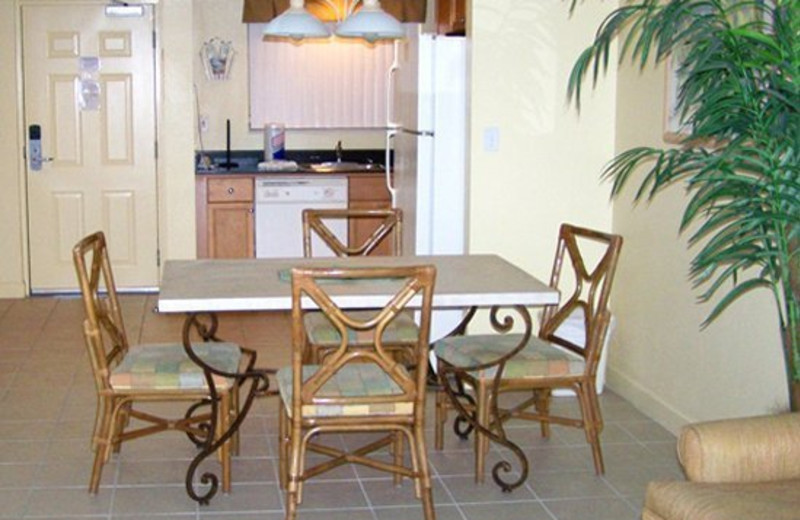 Unit dining room at Vistas on the Gulf.