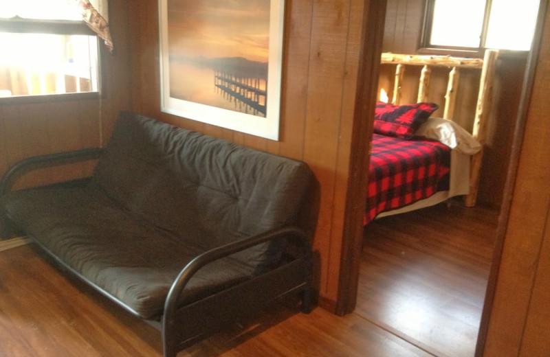 Cabin interior at Sisko's Pine Point Resort.