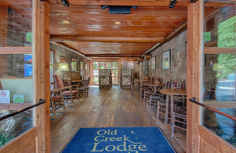 Entrance at Old Creek Lodge.