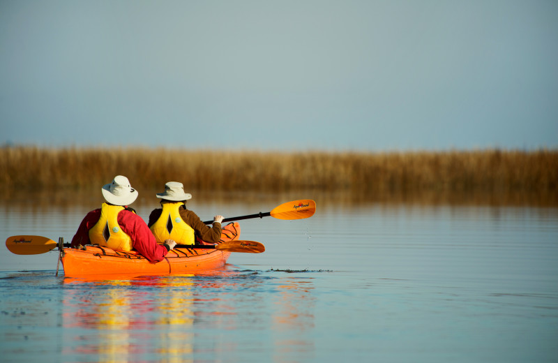 Canoeing at Lodge on Little St. Simons Island.