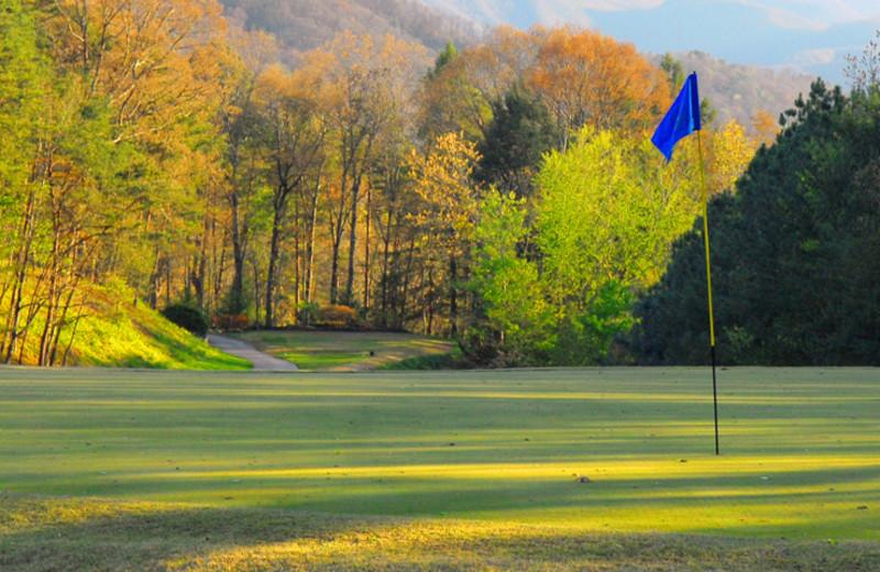Golf course near Timbers Lodge.