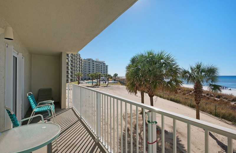 Rental balcony at Moonspinner Condominium.