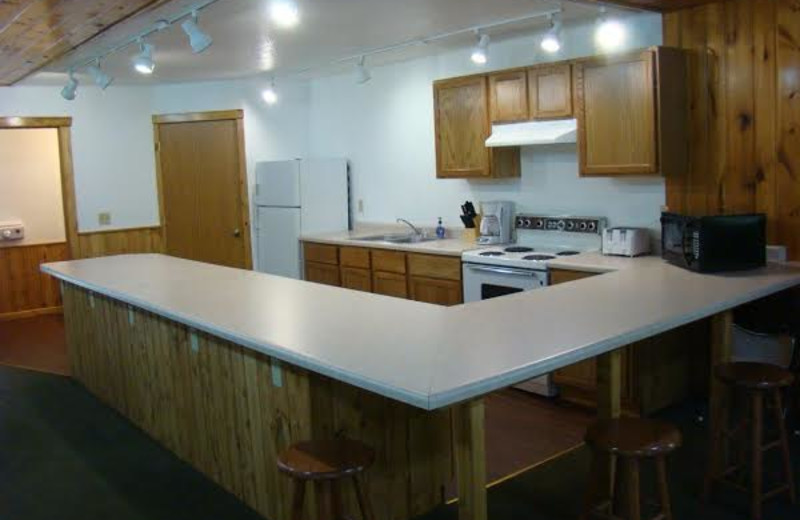 Cabin kitchen at Gull Four Seasons Resort.