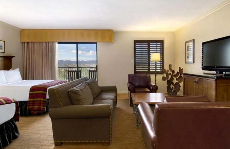 Junior suite at Hilton Tucson El Conquistador Golf & Tennis Resort.