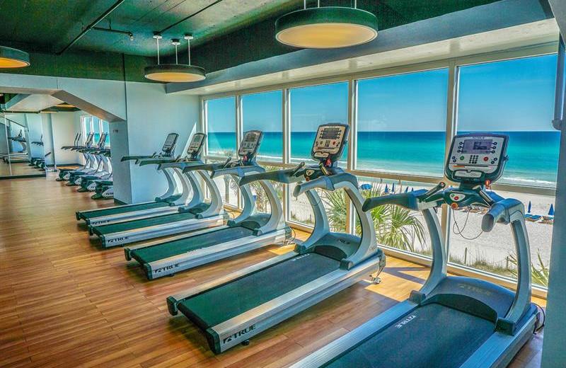 Fitness center at Splash Resort.