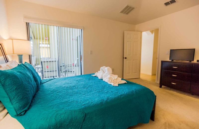 Rental bedroom at Contempo Vacation Homes.