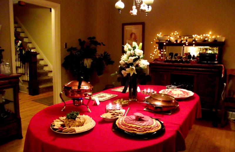 Dining room at Inn At Timber Cove.