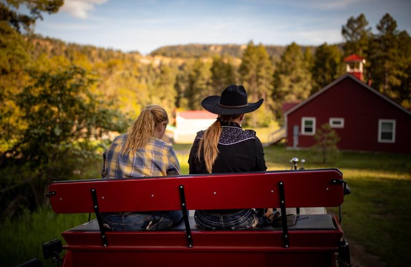 Wagon ride at Colorado Trails Ranch.