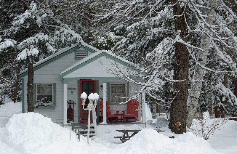 Winter at Cottage Place on Squam Lake.