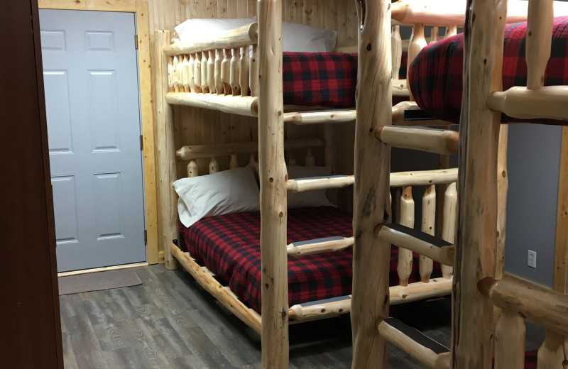 Cabin bunk beds at Sunset Bay Resort.