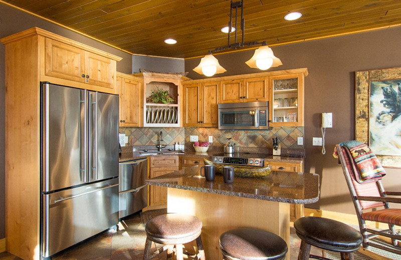 Guest kitchen at Grand Superior Lodge on Lake Superior.