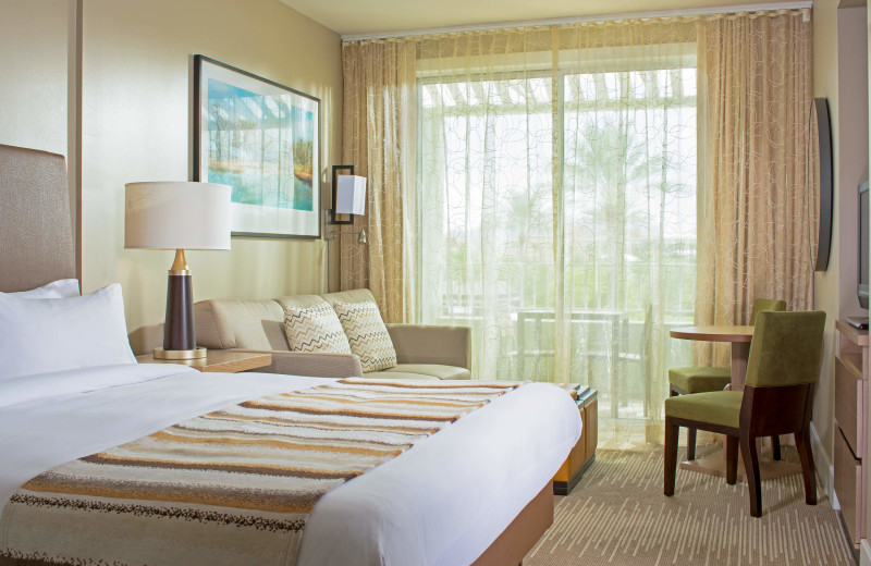 Guest room at Marriott's Canyon Villas.